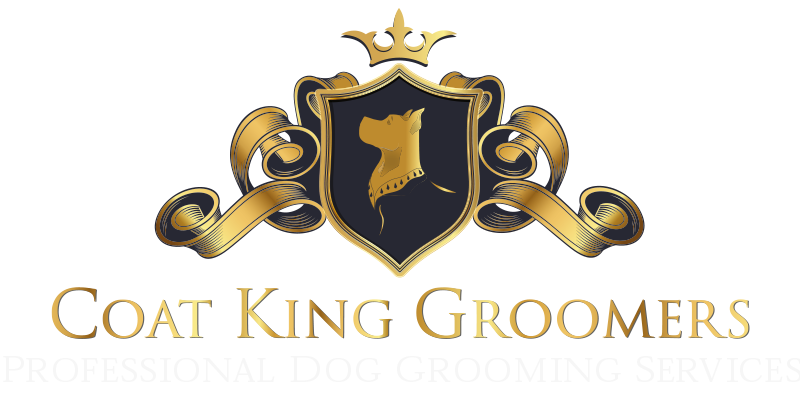 Coat King Groomers professional dog grooming footer services logo